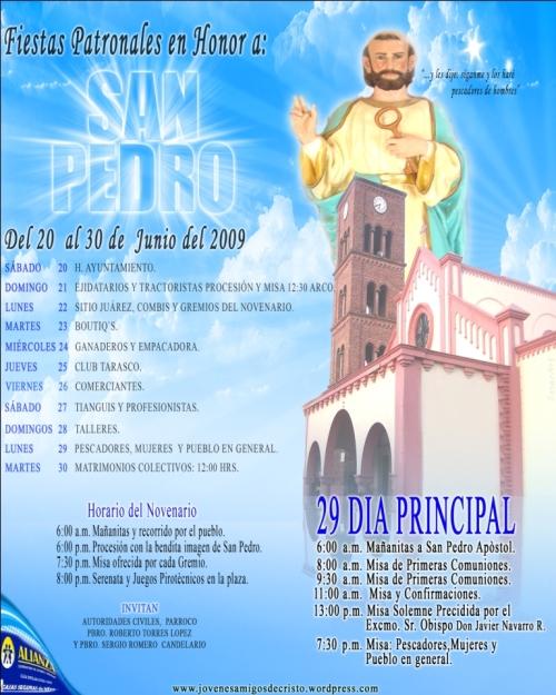 Programa de la Iglesia Junio  2009
